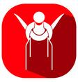 Sport icon for gymnastics on parellel bars vector image vector image