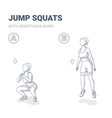 squat jumps with resistance band female home vector image vector image