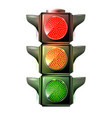 traffic lights with red yellow and green lights vector image vector image