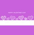 valentines day banner with decorative hearts vector image vector image