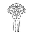 vintage hairpin engraving vector image