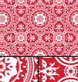Vintage Victorian Age Red seamless pattern vector image vector image