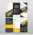 yellow black triangle business trifold leaflet vector image