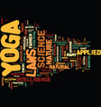 yoga for stress relief text background word cloud vector image vector image