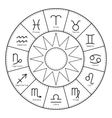 Zodiac signs around the sun Icons for horoscopes vector image