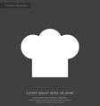 chef hat premium icon vector image