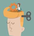 Head and Brain Gears in Progress vector image