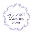 lavander frame hand drawn vector image