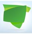 Abstract origami speech bubble vector image