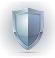 Blank shield protection emblem vector image