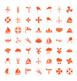 49 wind icons vector image vector image
