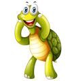 A happy turtle vector image vector image