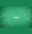 abstract green geometric polygonal background vector image vector image