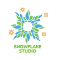 abstract snowflake logo templates vector image