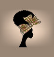 african american woman curly afro hairstyle vector image vector image