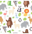african jungle animals seamless pattern for cute vector image