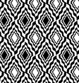 Black and white wavy diamonds vector image vector image