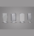 blank 3d banner poster display screen billboard vector image