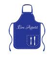 Blue apron vector image vector image