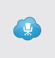 Blue cloud Office chair icon vector image