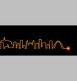 bogota light streak skyline vector image vector image