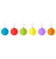 christmas ball icon set line white background vector image