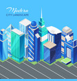city urban landscape isometric view with vector image vector image