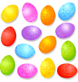 colorful decorative easter eggs vector image vector image