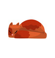 cute red cat sleeping funny pet character furry vector image vector image