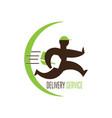 delivery service logo vector image vector image