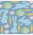 Denim floral seamless pattern Jeans vector image vector image