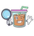 detective bubble tea character cartoon vector image vector image