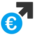 Euro Growth Flat Icon vector image vector image