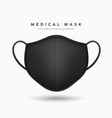 face mask black color realistic mock up vector image vector image