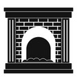 fireplace for fire icon simple style vector image vector image