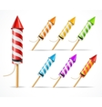 Fireworks rocket set vector image