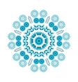 Floral blue round ornament