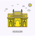 gate way of india monument poster template world vector image