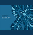 geometric background with random chaotic lines vector image vector image