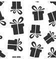 gift box icon seamless pattern background present vector image