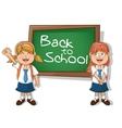Girls kids of back to school design vector image vector image