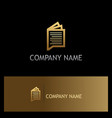 gold document paper office logo vector image