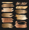 golden grunge brush strokes vector image vector image