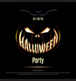 Halloween poster on a black background vector image vector image