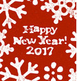 Happy New Year 2017 Postcard Grunge Design On Red vector image vector image
