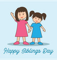 happy siblings day concept vector image