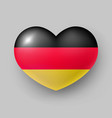 heart shaped glossy national flag germany vector image vector image