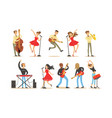 images singers and musicians vector image vector image