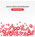 like heart icon background red round symbol vector image