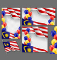 malaysian patriotic festive banners with space vector image vector image